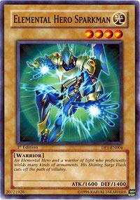 Elemental Hero Sparkman - DP1-EN004 - Common - Unlimited Edition