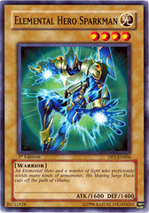 Elemental Hero Sparkman - DP1-EN004 - Common - Unlimited Edition