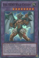 Evil HERO Wild Cyclone - LCGX-EN070 - Super Rare - 1st Edition