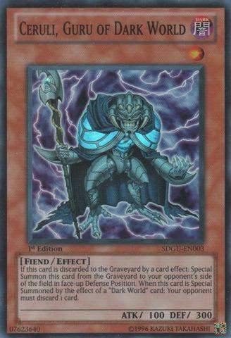 Ceruli, Guru of Dark World - SDGU-EN003 - Super Rare - 1st Edition