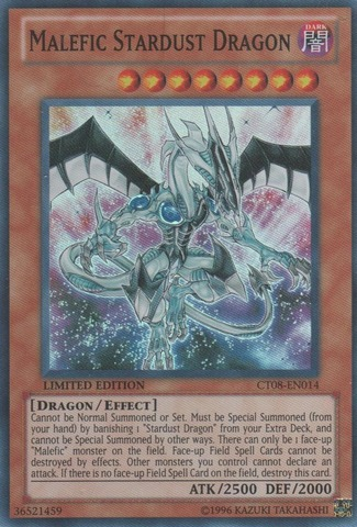Malefic Stardust Dragon - CT08-EN014 - Super Rare - Limited Edition