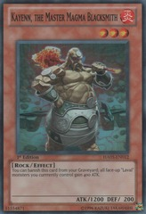 Kayenn, the Master Magma Blacksmith - HA05-EN012 - Super Rare - 1st Edition