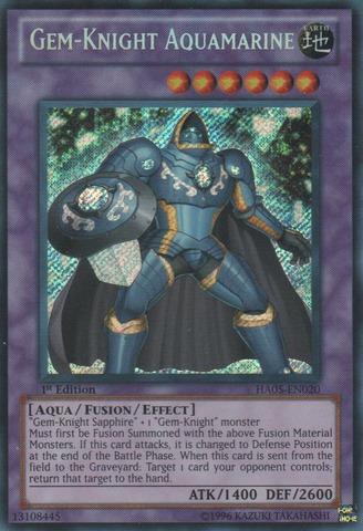 Gem-Knight Aquamarine - HA05-EN020 - Secret Rare - 1st Edition