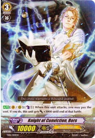 Knight of Conviction, Bors - TD01/002EN - R