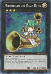 Melomelody the Brass Djinn - YS12-EN042 - Super Rare - 1st Edition