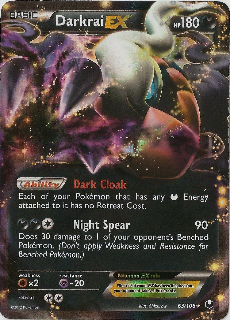 Darkrai-EX - 63/108 - Rare Holo EX