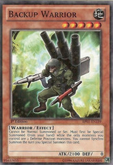 Backup Warrior - BP01-EN159 - Starfoil Rare - 1st Edition