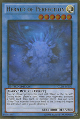 Herald of Perfection - GLD5-EN030 - Ghost/Gold Hybrid Rare - Limited Edition