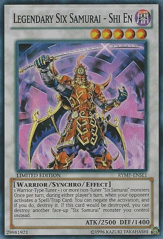 Legendary Six Samurai - Shi En - RYMP-ENSE1 - Super Rare - Limited Edition