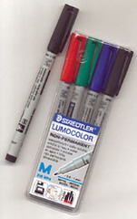 Water Soluble Markers, 4-Pack for Playmats