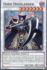 Dark Highlander - CT09-EN007 - Super Rare - Limited Edition on Channel Fireball