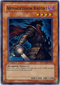 Armageddon Knight - PTDN-EN021 - Super Rare - 1st Edition