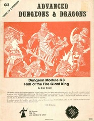 AD&D: G3 Hall of the Fire Giant King 9018