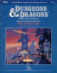 D&D DA3 City of the Gods #9191 Expert Game Adventure Module