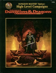 AD&D2e - Dungeon Master Option Rulebook - High-Level Campaigns 2156 HC
