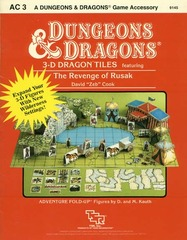 D&D - AC 3 - 3-D Dragon Tiles: The Revenge of Rusak 9145