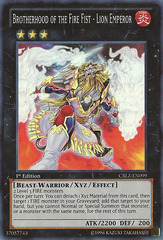 Brotherhood of the Fire Fist - Lion Emperor - CBLZ-EN099 - Super Rare - 1st Edition
