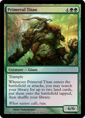 Primeval Titan (Grand Prix Foil) on Channel Fireball