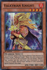 Valkyrian Knight - CBLZ-EN039 - Super Rare - 1st Edition