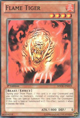 Flame Tiger - SDOK-EN019 - Common - 1st Edition on Channel Fireball