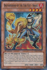 Brotherhood of the Fire Fist - Snake - CBLZ-EN026 - Super Rare - Unlimited Edition