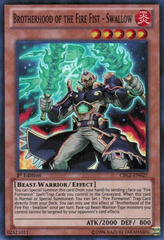 Brotherhood of the Fire Fist - Swallow - CBLZ-EN027 - Super Rare - Unlimited Edition