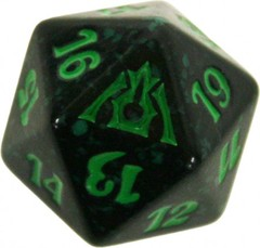 20 Sided Spindown Die - Dragon's Maze (Golgari) on Channel Fireball