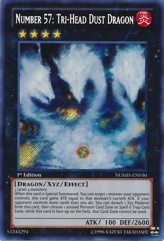 Number 57: Tri-Head Dust Dragon - NUMH-EN030 - Secret Rare - 1st Edition