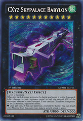 CXyz Skypalace Babylon - NUMH-EN046 - Secret Rare - 1st Edition on Channel Fireball