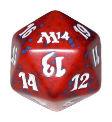 20 Sided Spindown Die - Magic 2014 (Red) on Channel Fireball