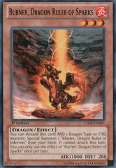 Burner, Dragon Ruler of Sparks - LTGY-EN097 - Common - Unlimited Edition