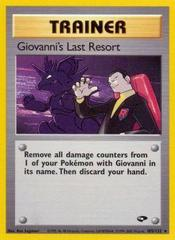 Giovanni's Last Resort - 105/132 - Rare - Unlimited Edition