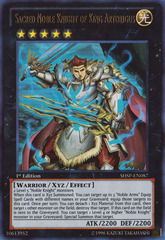 Sacred Noble Knight of King Artorigus - SHSP-EN087 - Ultra Rare - 1st Edition