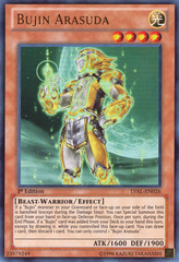 Bujin Arasuda - LVAL-EN026 - Ultra Rare - 1st Edition on Channel Fireball