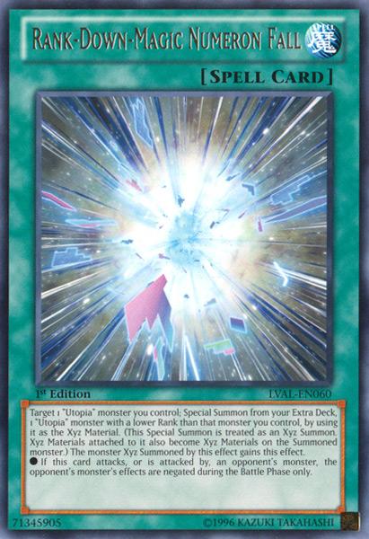 Rank-Down-Magic Numeron Fall - LVAL-EN060 - Rare - 1st Edition