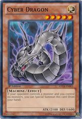 Cyber Dragon (Black) - SDCR-EN003 - Common - 1st Edition on Channel Fireball