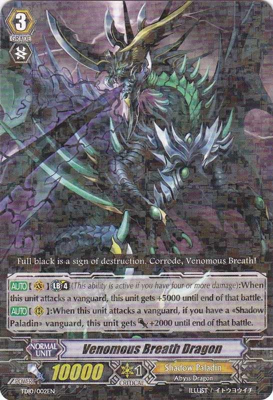Venomous Breath Dragon -  TD10/002EN - TD - R