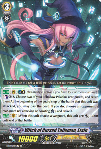 Witch of Cursed Talisman, Etain - BT12/009EN - RR