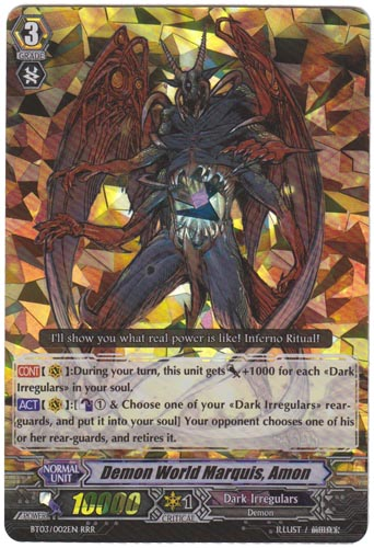 Demon World Marquis, Amon - BT12/S11EN - SP