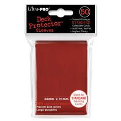 Red Standard Deck Protectors - 50ct