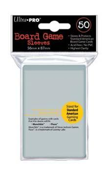 56mm X 87mm Standard American Board Game Sleeves 50ct