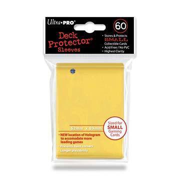 60ct Yellow Small Deck Protectors