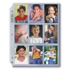 3-Hole Photo Page 10ct Pack for 2  x 3  Prints (Wallet Size)