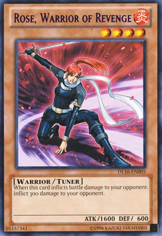 Rose Warrior of Revenge - Purple - DL16-EN005 - Rare - Unlimited Edition