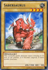 Sabersaurus - Blue - DL16-EN001 - Rare - Unlimited Edition on Channel Fireball