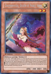 Gwenhwyfar, Queen of Noble Arms - LVAL-EN086 - Secret Rare - Unlimited on Channel Fireball