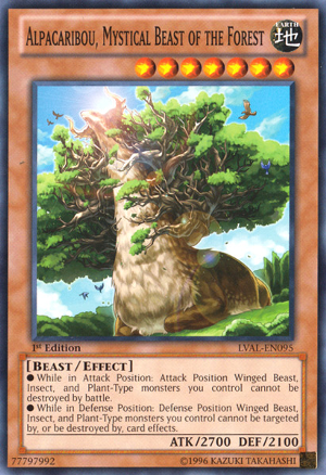 Alpacaribou, Mystical Beast of the Forest - LVAL-EN095 - Common - Unlimited