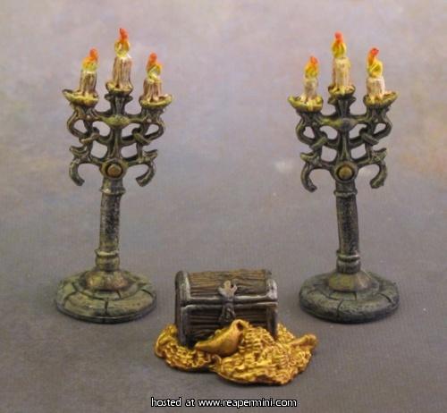 77138 Treasure /& Candleabra REAPER MINIATURES BONES