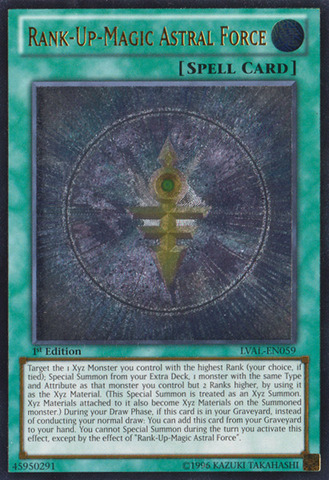 Rank-Up-Magic Astral Force - LVAL-EN059 - Ultimate Rare - Unlimited Edition