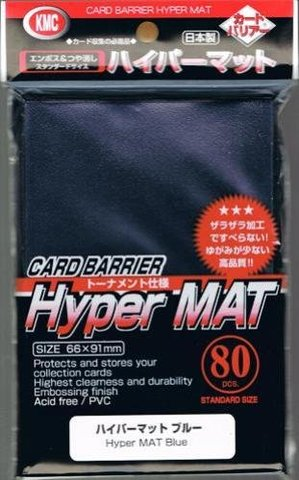 KMC Hyper Matte Blue Sleeves (80ct)